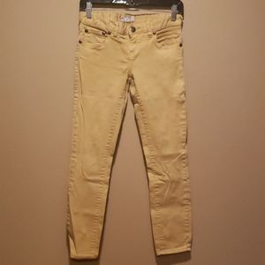 Free People Gold Yellow Jeans